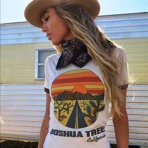Tops - Joshua Tree cactus Super Soft Retro Ringer Tee